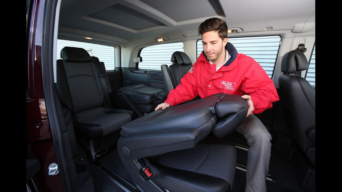 Mercedes Viano 2.0 CDI, Sitze, Umklappen