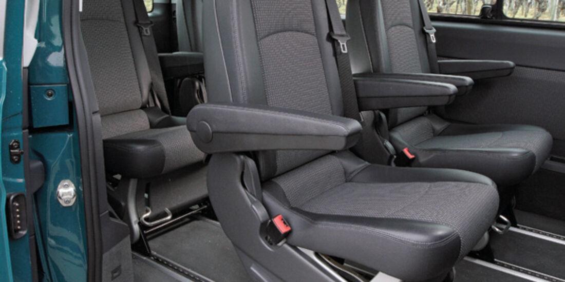 Mercedes Viano 2.2 CDI 4matic, Sitzreihen, Rücksitze