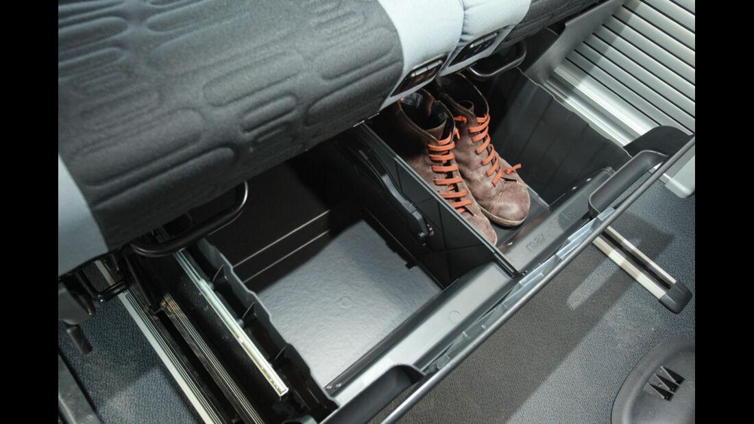 Mercedes Viano Marco Polo, Stauraum, Schuhe
