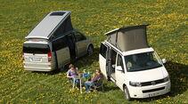 Mercedes Viano Marco Polo, VW T5 California, beide Fahrzeuge, Aufstelldach