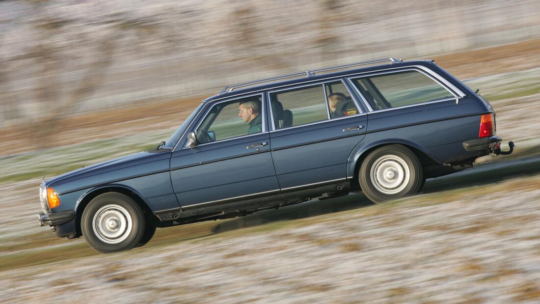 Mercedes W 123, Seitenansicht