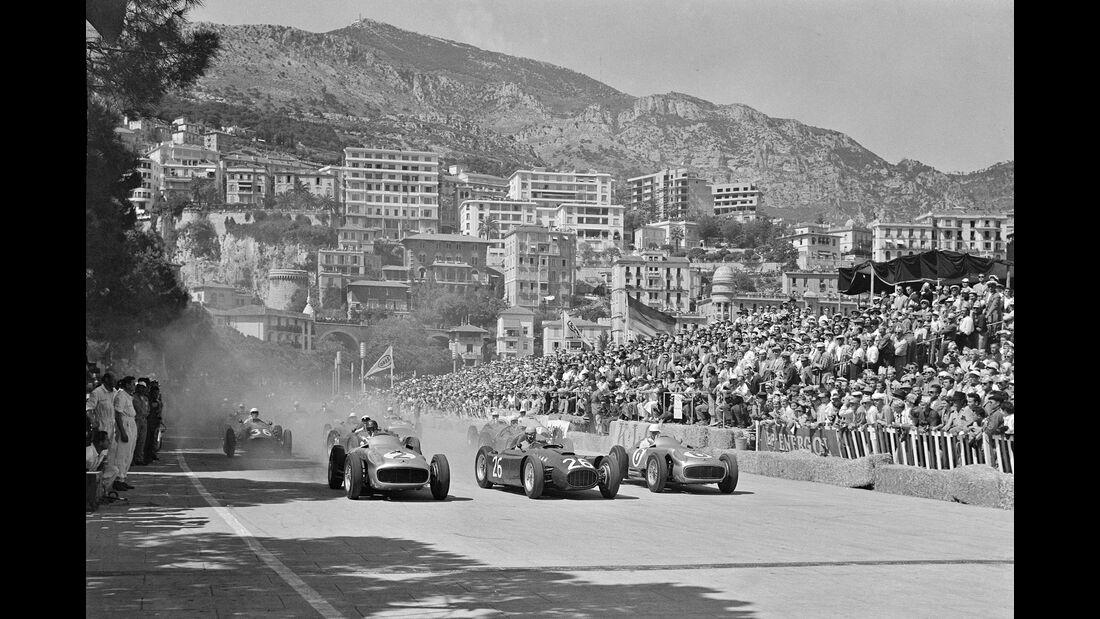 Mercedes W 196 R - Lancia D50 - GP Monaco 1955