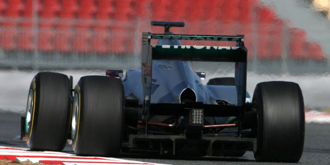 Mercedes W03 DRS Test Barcelona 2012
