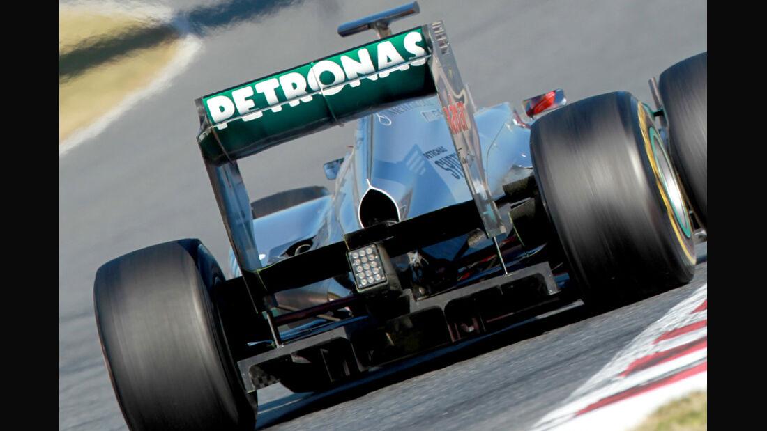 Mercedes W03 F-Schacht Test Barcelona 2012