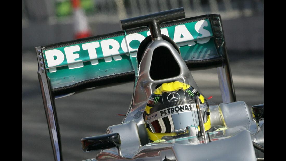 Mercedes W03 Test 2012 Heckflügel