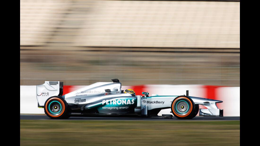 Mercedes W04 Test 2013