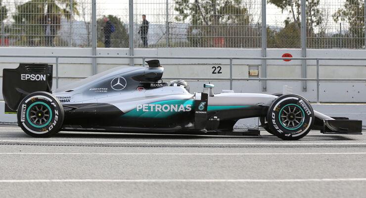 Mercedes W07 - F1 2016 - Profil