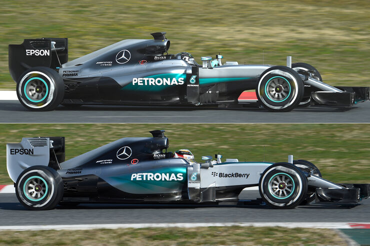 Mercedes W07 -Technik - 2016