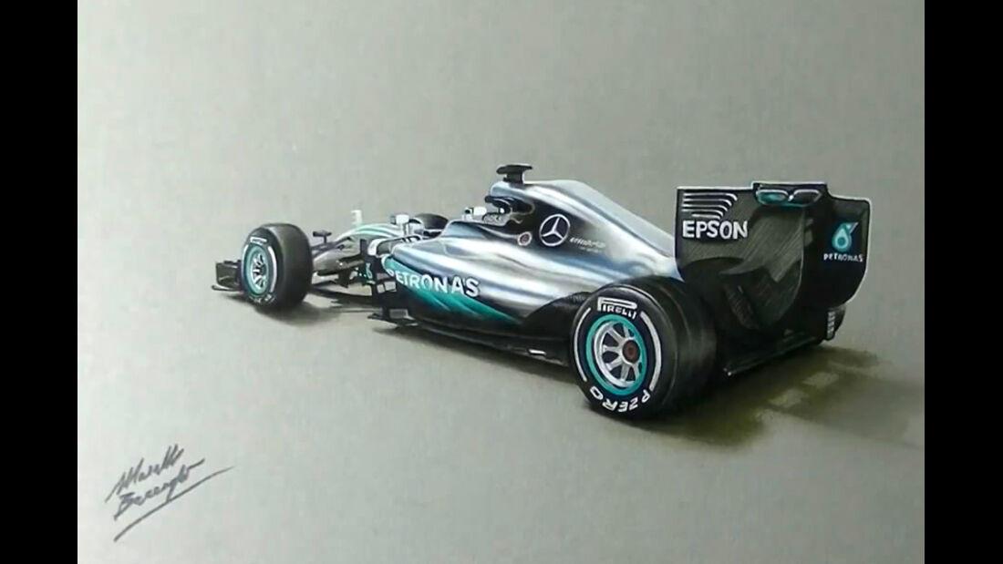 Mercedes W07 - Zeichnung