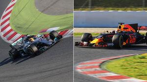 Mercedes W08 - Red Bull RB13