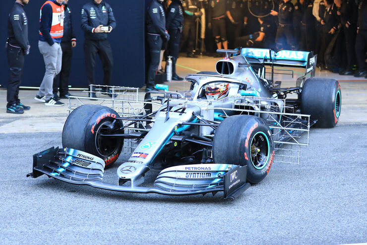 Mercedes W10 - Technical - Barcelona - Test F1 - February 26, 2019