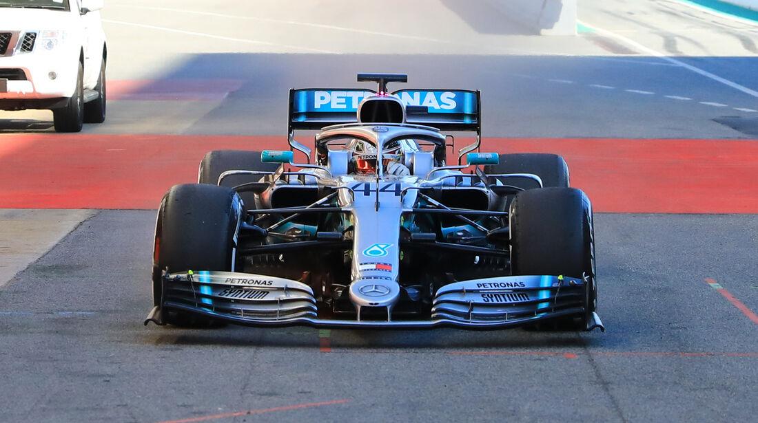 Mercedes W10 - Technik - Barcelona - F1-Test - 26. Februar 2019