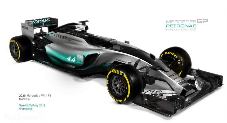 Mercedes W11 - F1 Concept 2020 - Cockpitschutz Kanzel - Formel 1  sc 1 st  Auto Motor Sport & F1 Concept: Mercedes W11 für 2020 - auto motor und sport