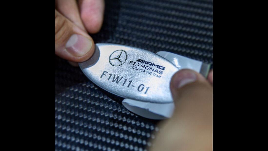 Mercedes W11 - F1 - Teaserbilder - 2020