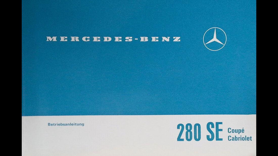 Mercedes W111 Coupé und Cabrio, Betriebsanleitung