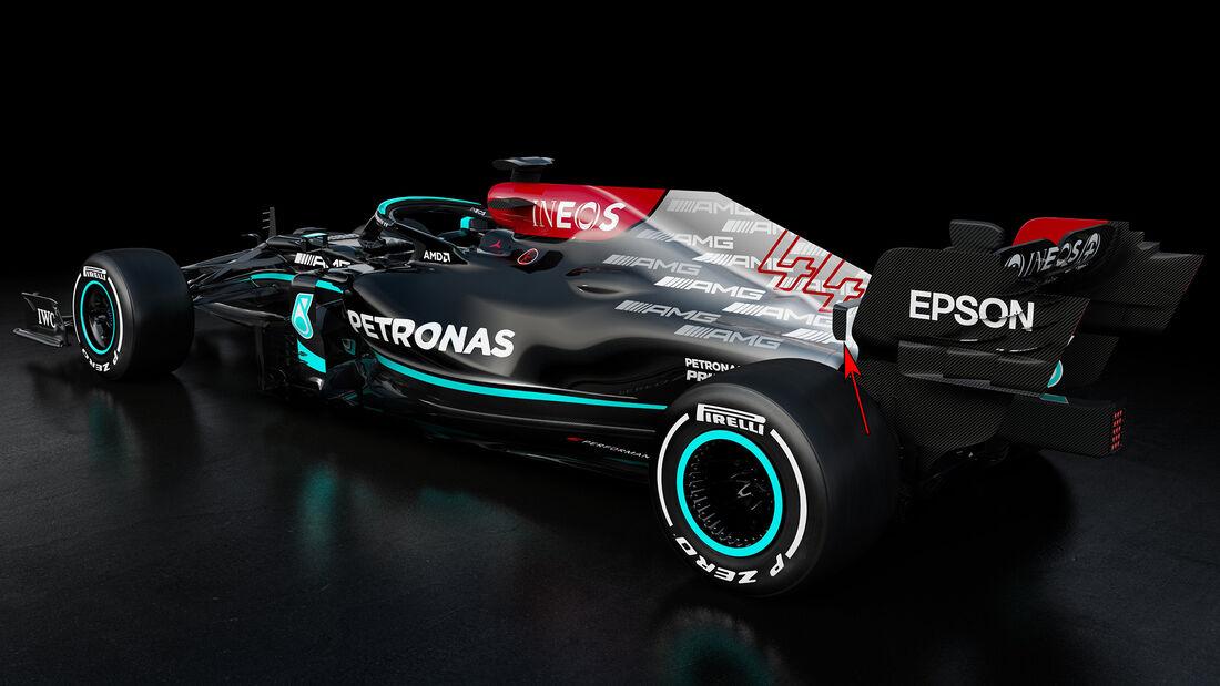Mercedes  W12 - Formel 1 - Technik - 2021