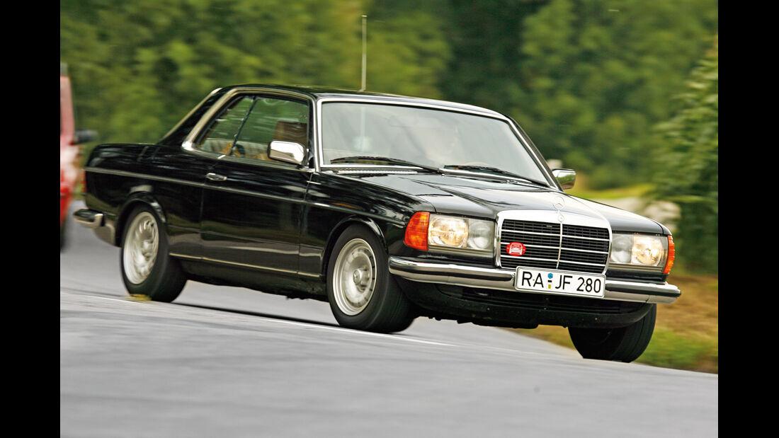 Mercedes W123 Coupé, Frontansicht