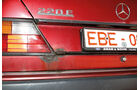 Mercedes W124, Kofferraumklappe