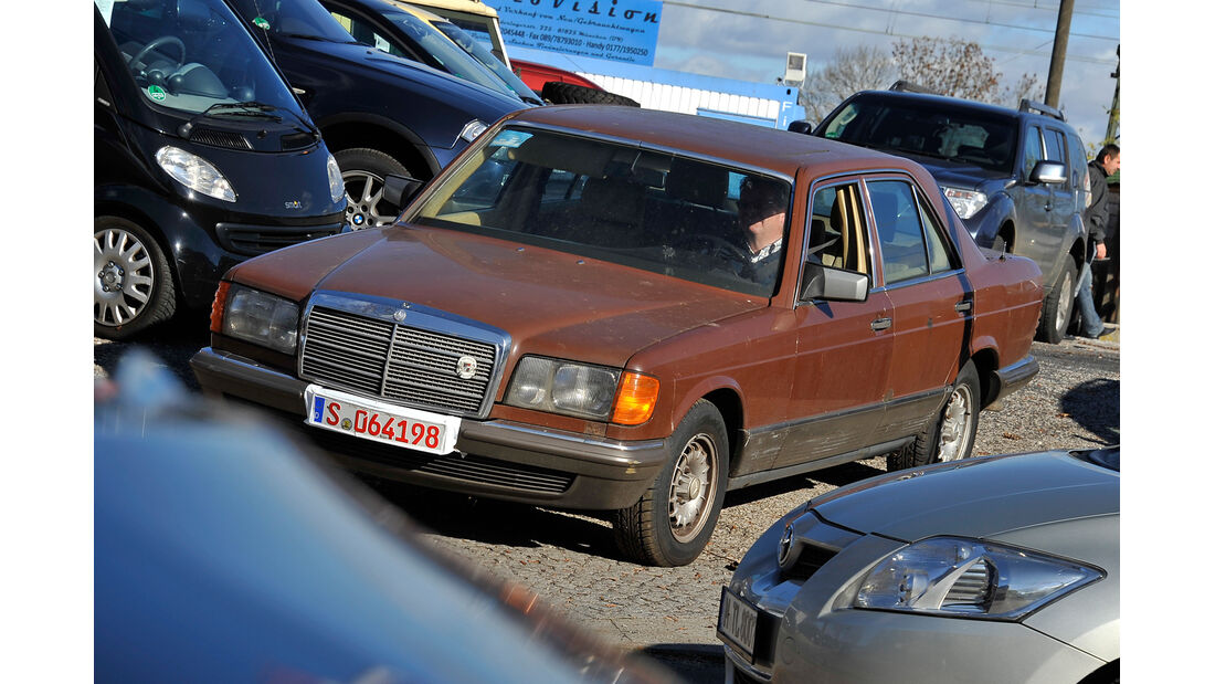 Mercedes W126, 6 Zylinder, Frontansicht