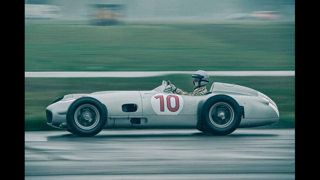 Mercedes W196R, Seitenansicht