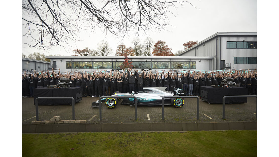 Mercedes - Weltmeister-Party - Brackley & Brixworth 2017
