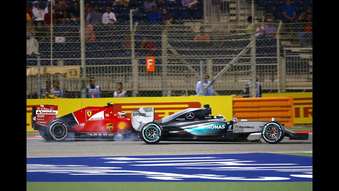Mercedes vs. Ferrari - Formel 1 - GP Bahrain 2015