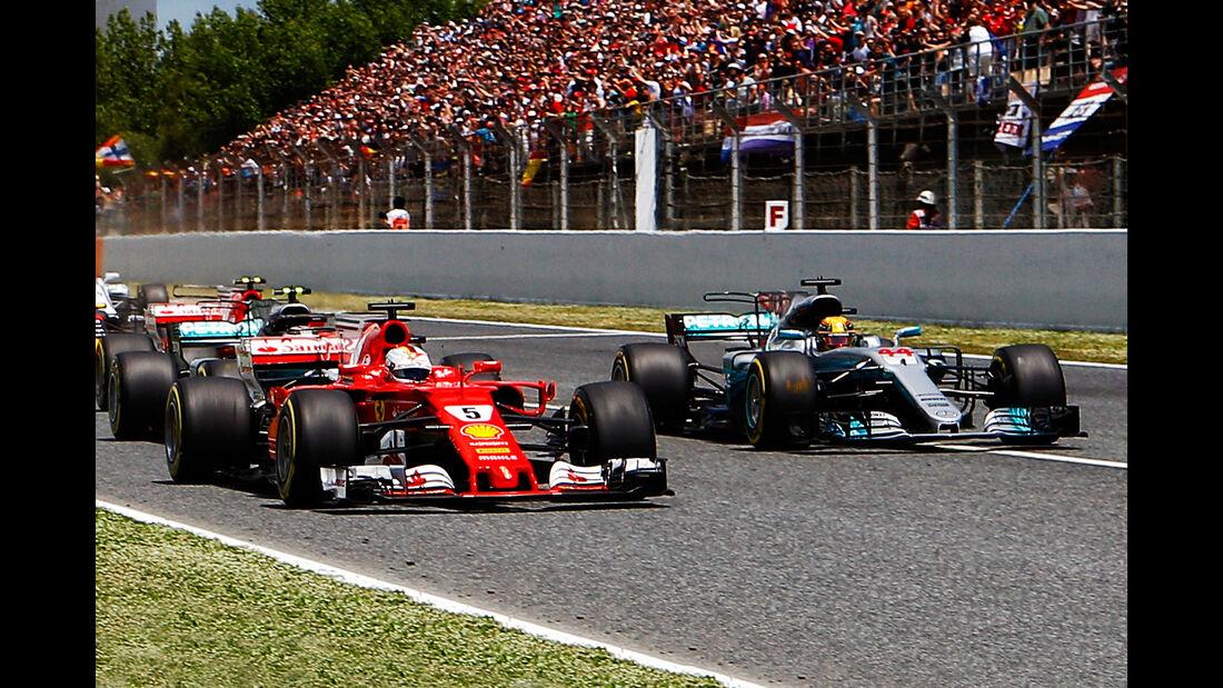 Mercedes vs. Ferrari - Formel 1 - GP Spanien 2017