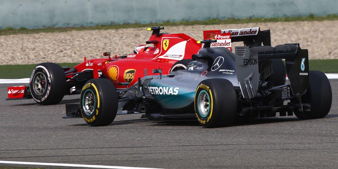 Mercedes vs. Ferrari - GP China 2015