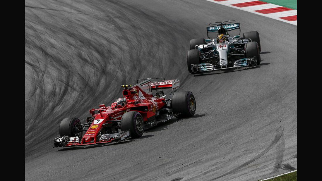 Mercedes vs. Ferrari - GP Österreich 2017