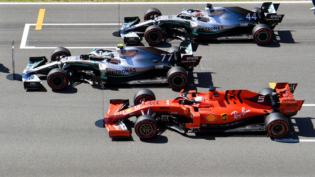 Mercedes vs Ferrari - GP Spanien 2019