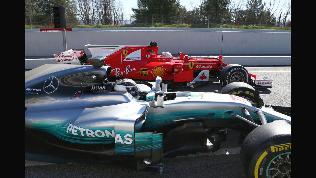 Mercedes vs. Ferrari - Test - Barcelona - F1 - 2017