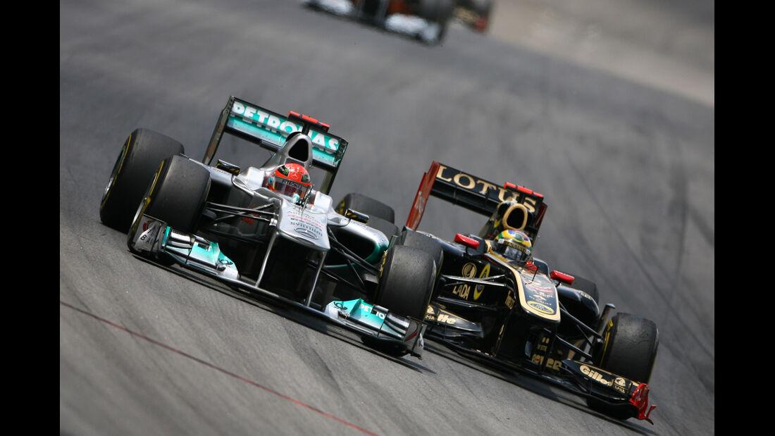Mercedes vs. Renault GP Brasilien 2011