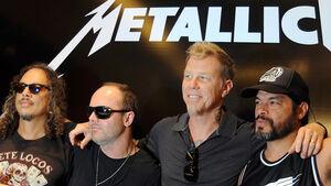 Metallica Pressekonferenz GP Indien 2011
