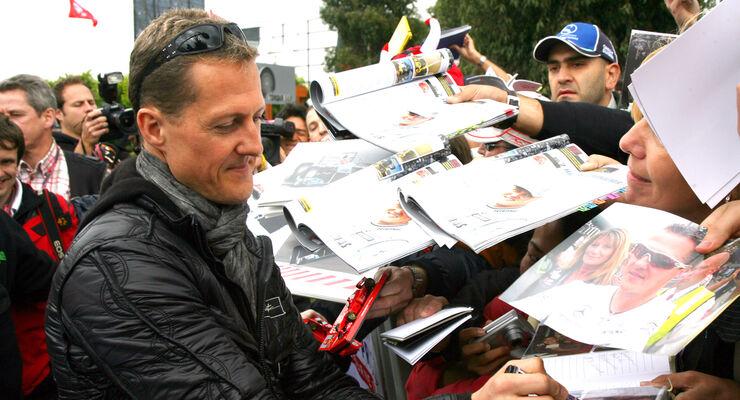 Michael Schumacher Autogramm 2012