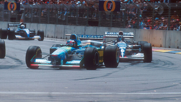 Michael Schumacher - Benetton B194 - Damon Hill - Williams FW16B - GP Australien 1994 - Adelaide