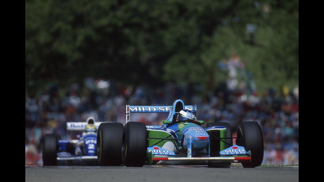 Michael Schumacher - Benetton-Ford B194 - Ayrton Senna - Williams FW16 - GP San Marino 1994 - Imola