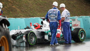 Michael Schumacher Crash GP Ungarn 2012