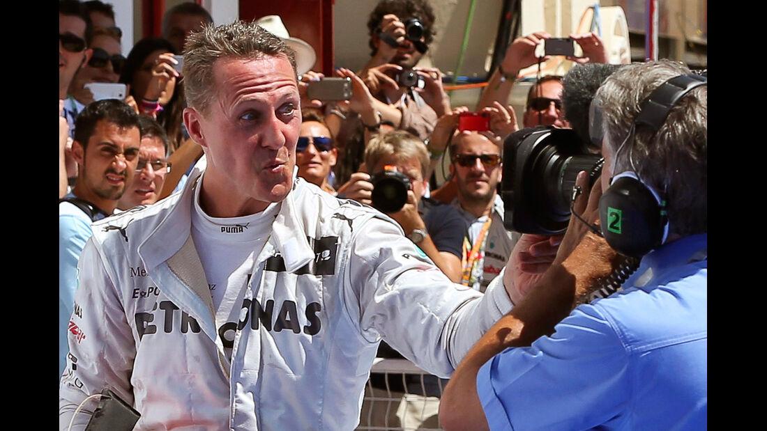 Michael Schumacher F1 Fun Pics 2012