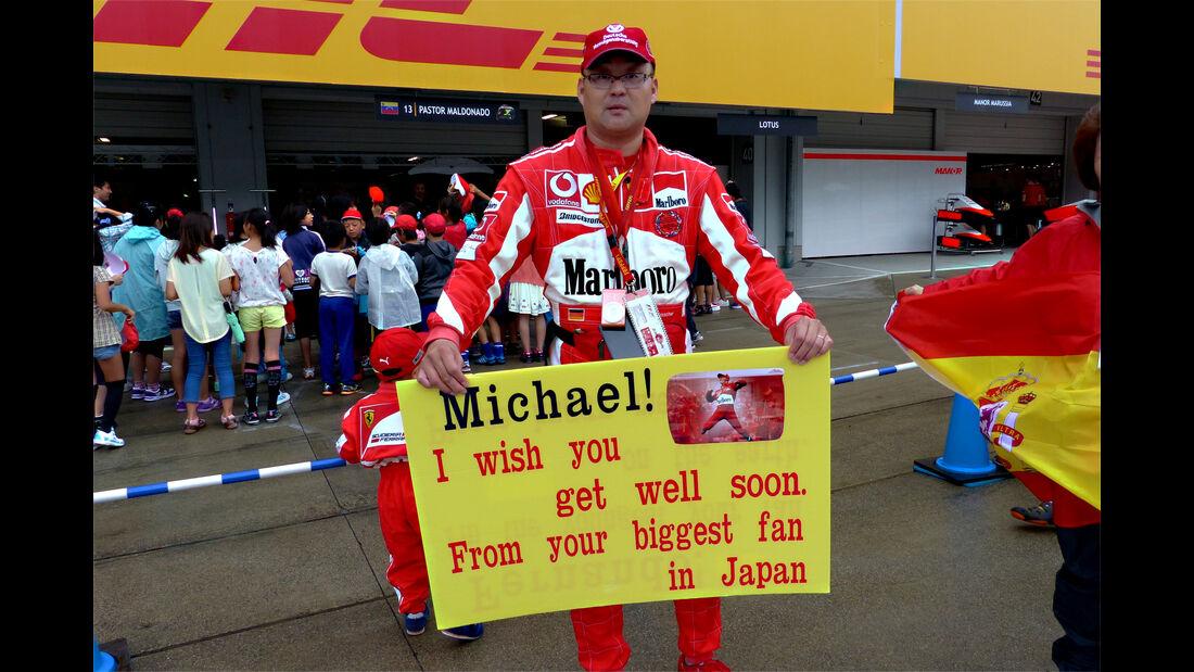Michael Schumacher-Fan - Formel 1 - GP Japan - Suzuka - 24. September 2015