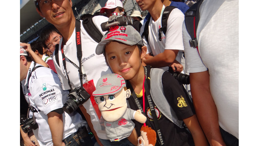 Michael Schumacher-Fan - Formel 1 - GP Japan - Suzuka - 4. Oktober 2012