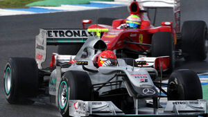 Michael Schumacher & Felipe Massa