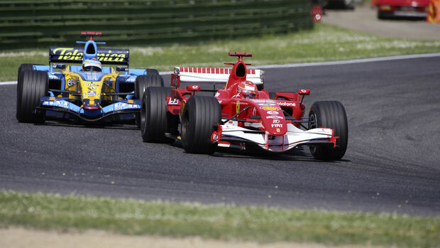 Michael Schumacher - Fernando Alonso - Imola 2006 - Formel 1