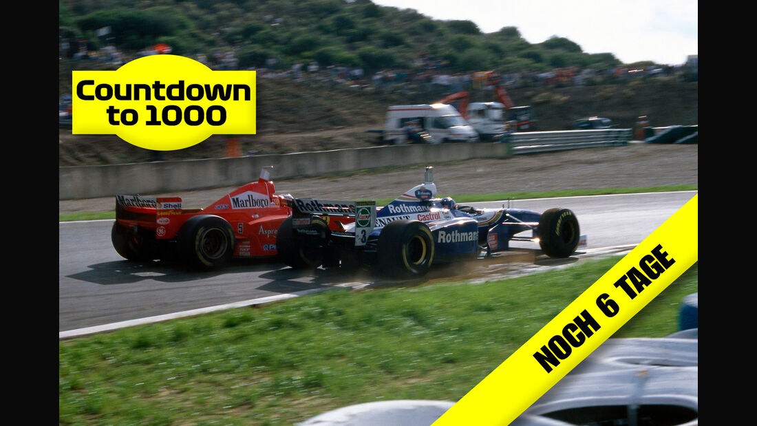 Michael Schumacher - Ferrari - Jacques Villeneuve - Williams - GP Europa 1997 - Jerez