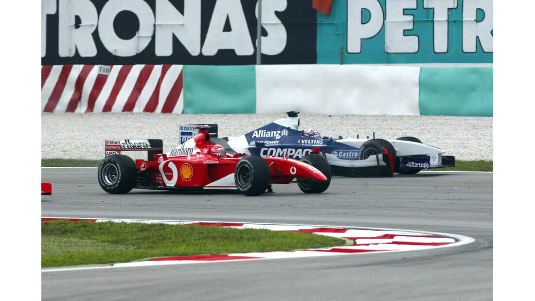 Michael Schumacher - Ferrari - Juan Pablo Montoya - Williams GP Malaysia 2002