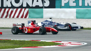 Michael Schumacher - Ferrari - Juan Pablo Montoya - Williams GP Malaysia 2002