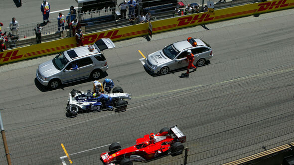 Michael Schumacher - Ferrari - Ralf Schumacher - Williams - GP USA 2004 - Indianapolis