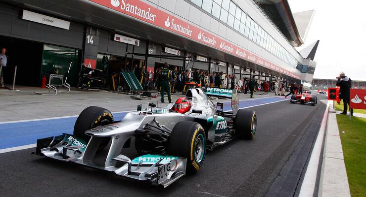 Michael Schumacher Formel 1 2012 GP England