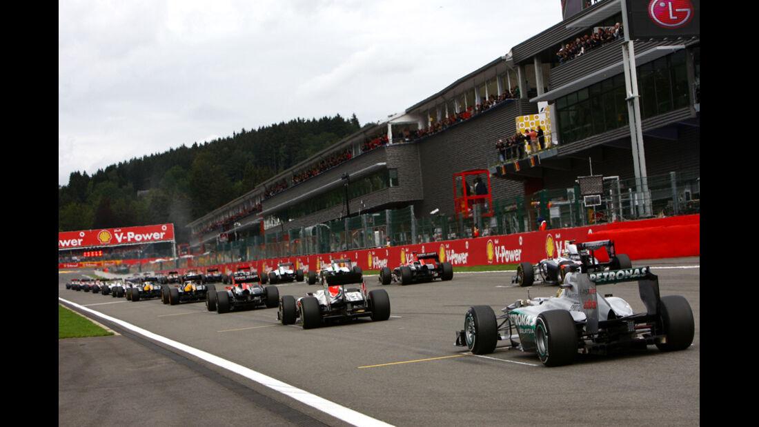 Michael Schumacher GP Belgien 2011