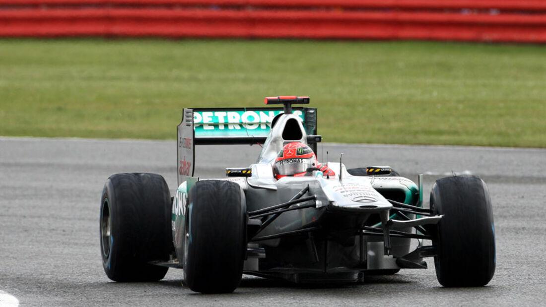 Michael Schumacher GP England 2011 Rennen