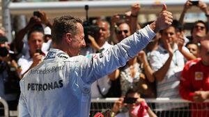 Michael Schumacher GP Europa 2012 Daumen hoch